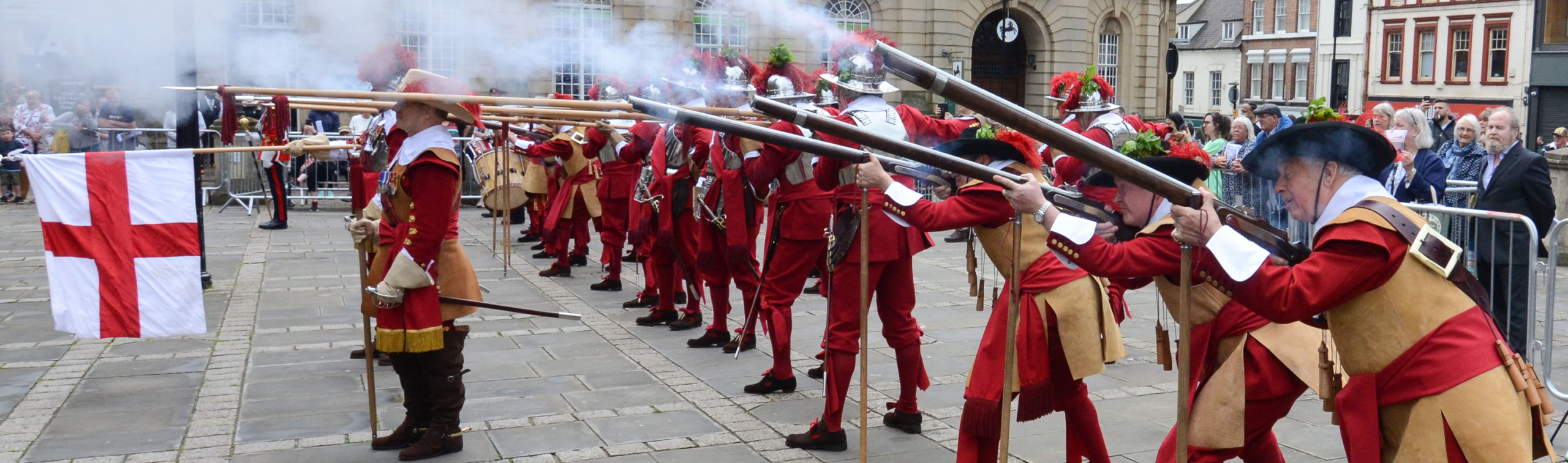 Musket shots in Northampton