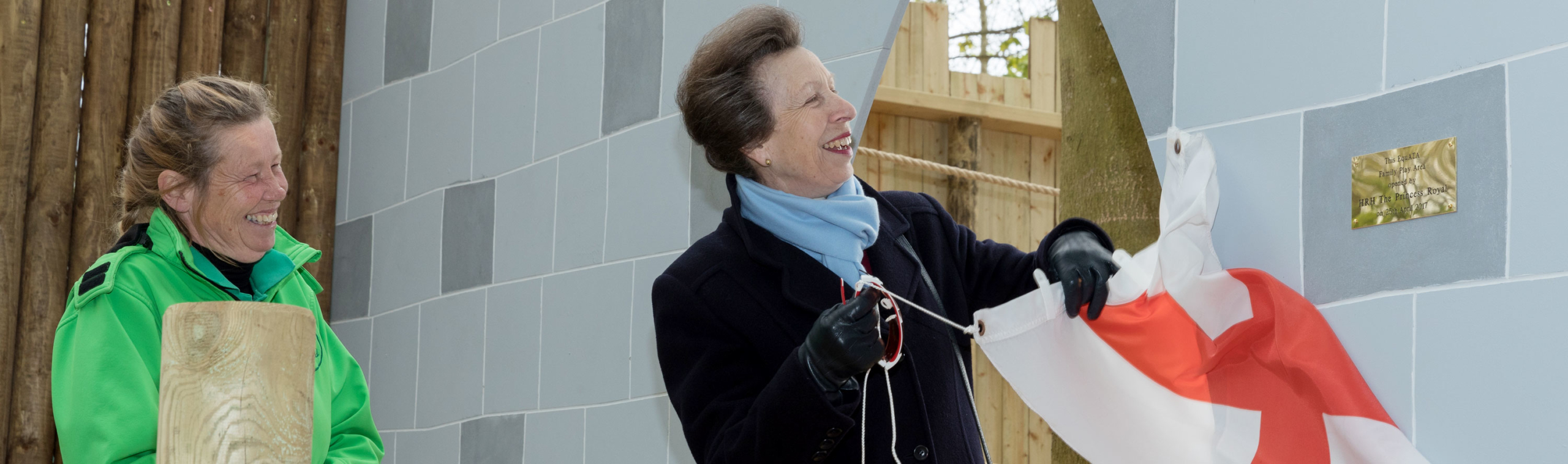 Princess Anne Unvails a Plaque