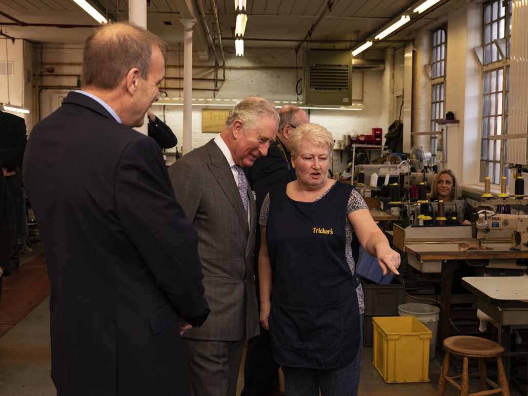 Prince Charles Visits the Trickers Factory